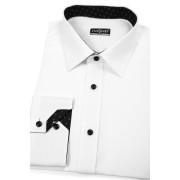 Pánská košile SLIM bílo-černá kombinace Avantgard 125-0120-43/44/194