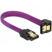 Delock SATA cable 6 Gb/s 10 cm down / straight metal purple Premium