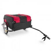 DURAMAXX Mountee Remolque de carga para bicicletas 130l 60kg acero negro-rojo (BCT1-Mountee)