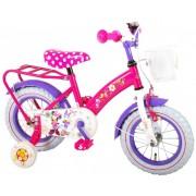 Bicicleta E&L Minnie Mouse 12 inch cu portbagaj