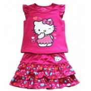 Compleu vara fete Hello Kitty 2-culoare roz