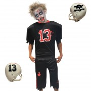 Disfraz Tudi De Zombie Halloween Futbol Americano Muerte Niño