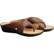 Dr. Scholls Women Brown Flats