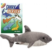"Bitsy Shark 10"" Plush with Sharks Sticker Book by Douglas"