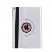 Shop4 - iPad 9.7 (2018) Hoes - Rotatie Cover Lychee Zilver