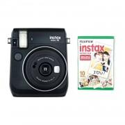 Fujifilm Instax Mini 70 Camera with 10 Shots Black