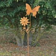 Pic Tuteur papillon à planter 168x34 cm