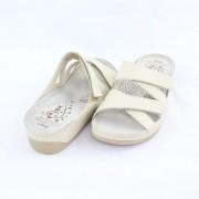 Papuci piele naturala dama - bej, Dr. Batz - medicinali - ENI-Beige