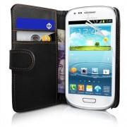 Samsung I8190 Galaxy S III mini Wallet Калъф + Протектор