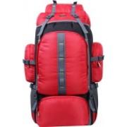 alfisha Outdoor Sports 65 L Hiking Climbing Bag Waterproof Trekking Mountaineering Rucksack Men Women Travel Daypack Camping Backpack 1042 Red Rucksack - 65 L(Red)