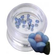 Flori albastre din material ceramic pentru NailArt – 3 mm - 02