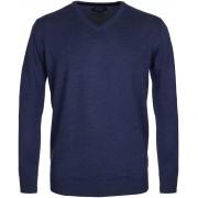 Profuomo Pullover V-Hals Indigo - Blau M