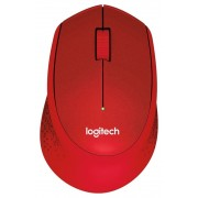 Mouse, LOGITECH M330 Silent Plus, Wireless, Red (910-004911)