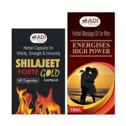 Pack of Energises High Power Capsules Oil Shilajeet Forte Gold Capsules