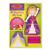 Princess Alyssa - Magnetic Dress Up Wooden Doll & Stand + FREE Melissa & Doug Scratch Art Mini-Pad B