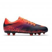 Zapatos Fútbol Hombre Nike Hypervenom Phade II FG-Naranja Con Negro
