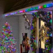 Karácsonyi kültéri fényfüzér
