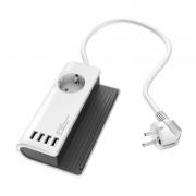 Hama Laddningsstation 4x USB 4800mA Vit Grå