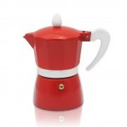 Кубинска кафеварка ZEPHYR ZP 1173 L6, 6 чаши, Топлоустойчива дръжка, Червен