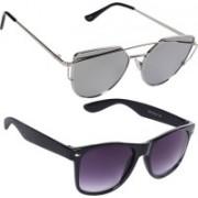 Reyda Wayfarer, Rectangular Sunglasses(Silver, Violet)