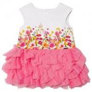 Mayoral Mayoral Floral Print & Pink Tulle Dress 18 months