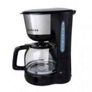 Машина за шварц кафе Singer SFC1812, Индикатор за ниво на водата, Постоянен филтър, Незалепваща се нагряваща плоча, 1000W, черна