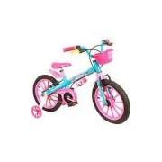 Bicicleta Infantil Nathor Candy Aro 16 Feminina Rosa