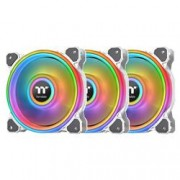 THERMALTAKE VENTOLA RIING QUAD 12 RGB RADIATOR PACK 3 VENTOLE 120MM PREMIUM EDI WH