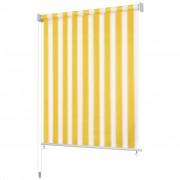 vidaXL vidaXL väliruloo 160 x 230 cm, kollase- ja valgetriibuline