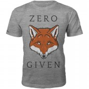 Men's Slogan Collection Zero Fox Given Heren T-Shirt - Grijs - XXL - Grijs