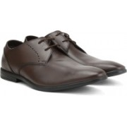 Clarks Bampton Lace Walnut Leather Lace up For Men(Brown)
