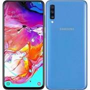 Samsung Galaxy A70 Teléfono inteligente, 128GB/6GB SM-A705M/DS 6.7 pulgadas HD+ Infinity-U 4G/LTE desbloqueado de fábrica, versión internacional, 128 GB, Azul