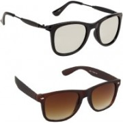 GLAND Wayfarer Sunglasses(Clear, Brown)