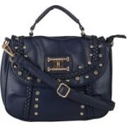 lavu&me Women Blue Polyester Sling Bag