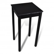 vidaXL Černý barový stůl MDF 55 x 55 x 107 cm