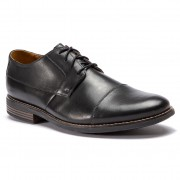 Обувки CLARKS - Becken Cap 261231397 Black Leather
