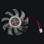 Jtron DC 12V 0.18A 5.3cm del ventilador de refrigeracion - Transparente