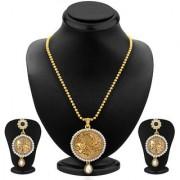 Sukkhi Delightful Gold Plated Pendant Set For Women