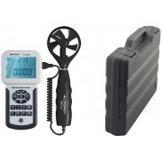 HOLDPEAK 856A Digitális szélerősség légáramlás és hőmérsékletmérő 0-45msec -10C-45C USB.
