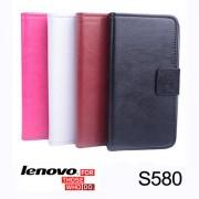 Lenovo S580 Magnetic Wallet Кожен Калъф + Стилус