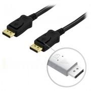 . DisplayPort monitorkabel, 20-pin ha - ha, 2m, svart