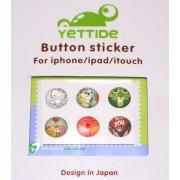 iPhone iPad iPod Sticker Hemknapp 6-pack (Heart Love)