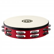 Meinl Touring Tambourine TAH2BK-R-TF Double Row, acero, rojo #R, Overstock