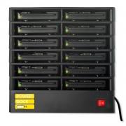 Power Dock with 12 Power Banks - док станция с 12 батерии/гнезда и кабели за зареждане (31200mAh) за мобилни устройства