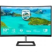 Philips E Line 322E1C/00 computer monitor 80 cm (31.5 ) Full HD LCD Gebogen Zwart