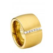 Steel_Art Ring Ductus, Edelstahl, Swarovski-Zirkonia gold