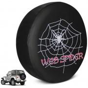 Capa De Estepe Troller PVC Estampa Web Spider Com Cadeado