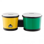 NINO ABS Bongos 6 1/2-Inch & 7 1/2-Inch Green/Yellow
