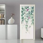 LeiDyWer Etiqueta de la puerta Etiqueta de la puerta de la hoja Pegatinas de pared Cartel mural Autoadhesivo Etiquetas de la puerta impermeables extraíbles Decoración del hogar85cm(W)*215cm(H)