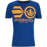Crosshatch Men's Jomei T-Shirt - Surf The Web - S - Blue